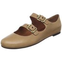 Gentle Souls Women`s Double Bet Mary-Jane Flat,Camel,8.5 M US