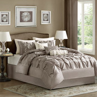 Madison Park Laurel Taupe 7-Piece King Comforter Set - Bed Bath &amp; Beyond