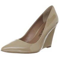 daniblack Women`s Alana Too Wedge Pump,Beige,8 M US