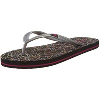 New Balance Women`s The De-Jo Flip Flop,Black/Circle,11 M US