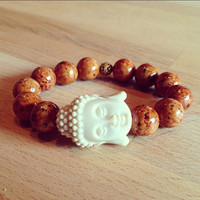 Big Orange Buddha Bracelet