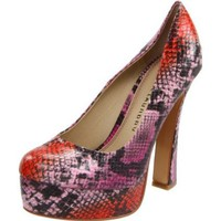 Chinese Laundry Women`s Move Over Platform Pump,Fuschia Multi,8.5 M US