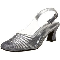 Lava Women`s Riviera Closed Toe Slingback,Pewter,9.5 B US