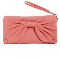Bow-tiful Wristlet in Coral