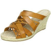 Rockport Women`s Emily Laser Wedge Sandal,Brown,9.5 M US