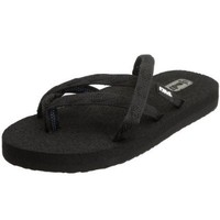 Teva Women`s Olowahu Flip Flop,Mix B Black on Black,10 M US
