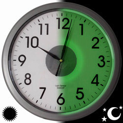 Glow in the Dark Clocks, LED Back Lit Clock |  The LED backlit clock that lights up when the lights go out