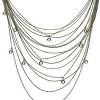 ABS Long Multi Strand Necklace - Max and Chloe