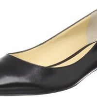 Ivanka Trump Women`s Annulio Flat,Black Leather,12 M US