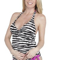 Maternal America Josie Zebra Maternity Tankini