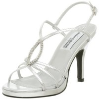 Dyeables Women`s Holly Sandal,Silver,9 M