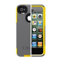 Otterbox Commuter Series Hybrid Case for iPhone 4 & 4S  - Retail Packaging - Gunmetal Grey/Sun Yellow