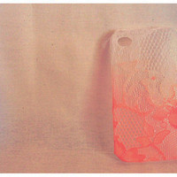 Ombre Iphone Lace Case Orange Sherbert