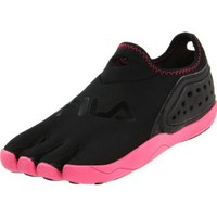 Fila Women`s Skele-Toes Tri Fit Slip-On Shoe,Black/Hot Pink,9 M US