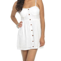 Sateen Button Front Dress | Shop Dresses at Wet Seal
