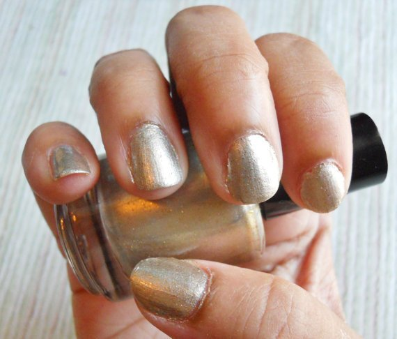 Silver Gold Glitter Nail Polish &quot;Sold&quot; Full Size Bottle 0.5 oz