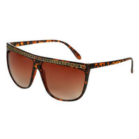 Chain Link Straight Top Sunglasses  | Shop Accessories at Wet Seal