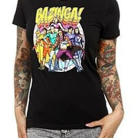 The Big Bang Theory Bazinga! Comic Girls T-Shirt - 130652