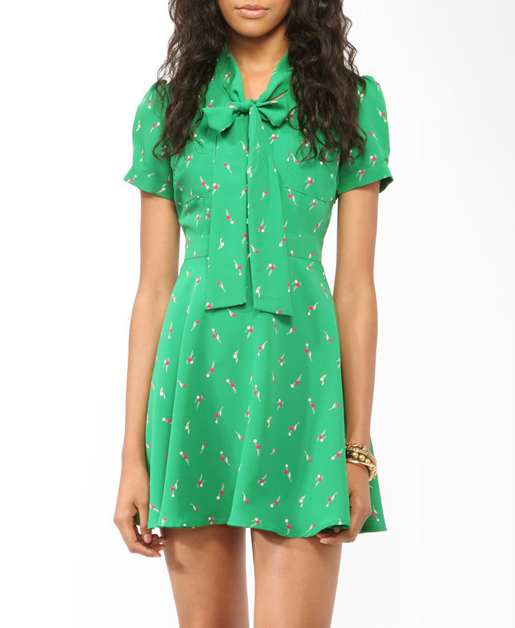 Ditsy Dandelion Fit & Flare Dress