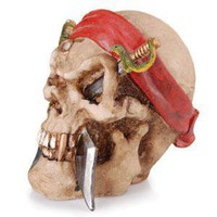 - Pirate Skull Polyresin Ashtray - each - Other