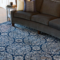 Smithsonian China Blue Hand Tufted Rug