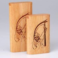 - Slide Top Teak Laser Engraved Grim Reaper Large - each - Other