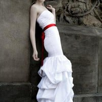 Clouds - White Gown | Dress | white red gown wedding dress | UsTrendy
