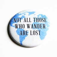 Sayings Compact Mirror JRR Tolkien Explore Pocket Blue Earth Lost