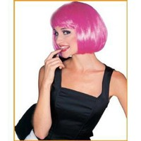 Amazon.com: Hot Pink Super Model Wig - One-Size: Toys & Games