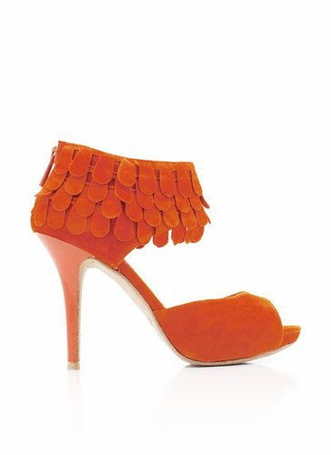 ruffled-peep-toe-heels ORANGE - GoJane.com