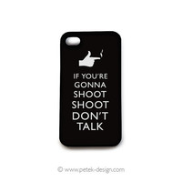Men Black iPhone 4 Case. Whimsy The Good, The Bad and The Ugly, Gadget Accessory for iPhone 4 4s. Typography