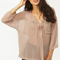 Midtown Blouse - Taupe