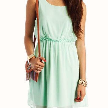 chiffon-keyhole-dress MINT - GoJane.com
