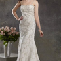 Empire Spaghetti Straps Chiffon Sweep Train Wedding Dress - Basadress.com