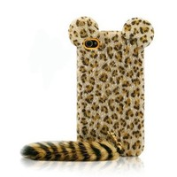Leopard Print iPhone 4/4s Cases with Panther Tail