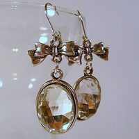 Earrings - Crystal Cabochons And Bo.. on Luulla