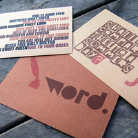 Wordsmith Postcard Set