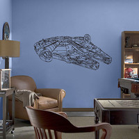 Star Wars Millennium Falcon V.1 Vinyl Wall Art Decal WD-0297