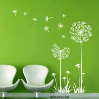 White Green Vinyl Wall Decal Sticker Art for bedroom, living room