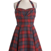 Plaid a Line Dress | Mod Retro Vintage Dresses | ModCloth.com