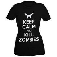 Keep Calm and Kill Zombies T-Shirt- Sizes XS-4X