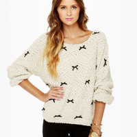 Be a Lamb Cream Sparkle Sweater