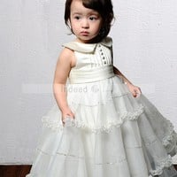Wholesale Ball Gown Scoop Floor-Length Flower Girl Dress with Organza and Satin Style 12320 ,for $107.00 only in IndeedBuyer.com.  - IndeedBuy