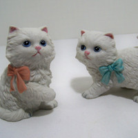 Homco Pair of Kittens Figurines 1428 Cat Home Interiors