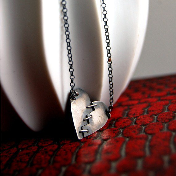 Made To Order Franken Heart III Sterling Silver by by MarKhed