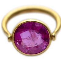 Ruby swivel ring by Marie-Hélène de Taillac