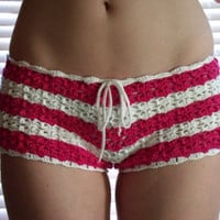 Hand crochet women shorts hot pants