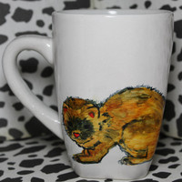 Ferrets Say Dook Dook Hand Painted Coffee Mug