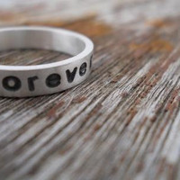 Hand Stamped Always & Forever Ring on Luulla