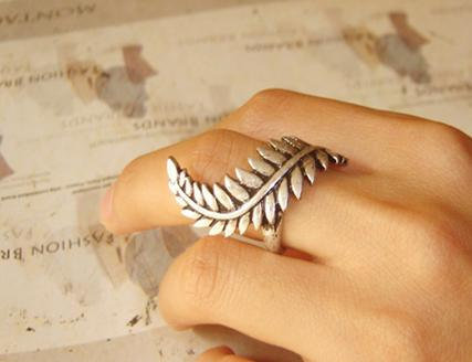 Steampunk, Bending leaves, ring, rings